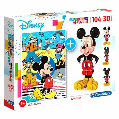 Puzzle Disney Clementoni Mickey 104 pièces + 3D Model
