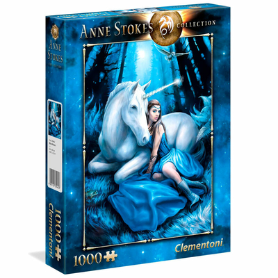 Puzzle Clementoni Anne Stokes Lune bleue 1000 pièces