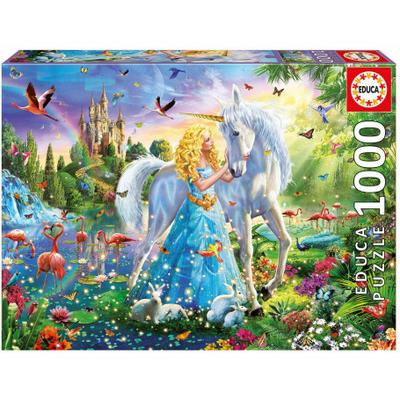 Puzzle Educa La princesse et la licorne 1000 pièces
