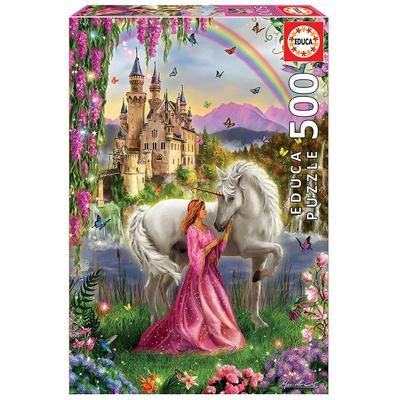 Puzzle Educa Princesse et Licorne 500 pièces