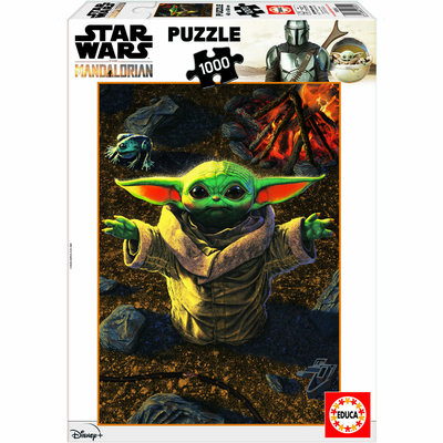 Puzzle Educa Star Wars The Mandalorian Baby Yoda 1000 pièces