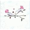 Carte Postale Double  Félicitations - Deux Oiseaux lULU sHOP