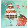Lulu shop Carte Nina Shen carte postal Gâteau d'anniversaire
