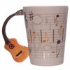 www.lulu-shop.fr Mug Partitions - Anse Guitare orange Par Ted Smith MUG104 - 1