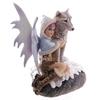 Fée des neiges avec loup de compagnie- Collection Mystic Realms Lulu Shop 5