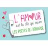 Carte Postale L'amour est la clé qui ouvre les portes du bonheur...  Lulu Shop