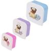 Lot de trois boîtes repas - Chien Carlin Lulu Shop 1