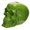 Tirelire crâne poli vert lulu shop