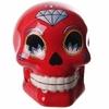 Tirelire crâne jour des morts mexicain petit modèle rouge lulu shop 1