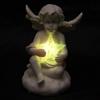 Figurine Ange blancs portant une étoile LED lulu shop 5