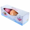 Lot de 3 Boules de Bain Fruitées carlin Pugs and kisses 1