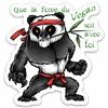 Autocollant Panda Yoda Végan - Sticker pour personaliser lulu shop