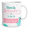 Mug Moments de la Vie Vive la Retraite Je me la coule douce lulu shop