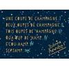 Lulu-Shop.fr Cartes postales Une coupe de champagne. Deux oupes de champagne. Tois oupes de 'hampagne. Qua oup de 'hamp. S'cou hamp. Scpshmp. Bonne Année! 3326323