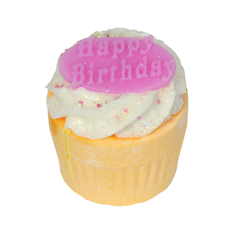 www.lulu-shop.fr boule de bain effervescente Muffin de bain Joeux anniversaire