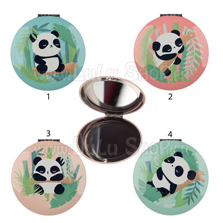 Miroir de Poche Panda lulu shop