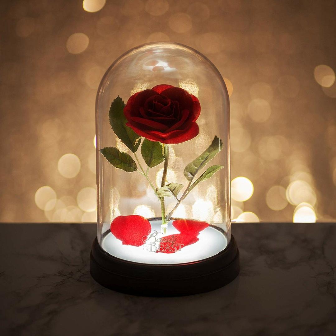 Lampe Rose Enchantée Disney  La Belle et la Bête lulu shop 3