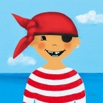 Lulu Shop art de la table vaisselle petit garçon pirate