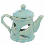 Brûleur A Huile Céramique Théière Avec Couvercle - Bleue lulu shop 1