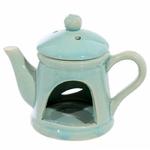 Brûleur A Huile Céramique Théière Avec Couvercle - Bleue lulu shop 2