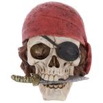 Crâne décoratif pirate avec bandana et couteau Lulu Shop 1