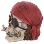 Crâne décoratif pirate avec bandana et couteau Lulu Shop 2