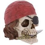 Crâne décoratif pirate avec bandana et couteau Lulu Shop 5