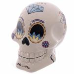 Tirelire crâne jour des morts mexicain blanc lulu shop 1
