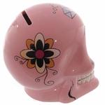 Tirelire crâne jour des morts mexicain rose lulu shop 2