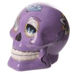 Tirelire crâne jour des morts mexicain petit modèle violet lulu shop 1