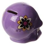 Tirelire crâne jour des morts mexicain petit modèle violet lulu shop 2