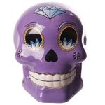 Tirelire crâne jour des morts mexicain petit modèle violet lulu shop 3