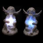 Figurine Ange blancs portant une étoile LED lulu shop 1