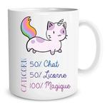 Mug Caticorn 50 Chat 50 Licorne  100 Magique lulu shop