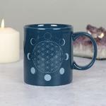 Lulu Shop Mug Fleur de vie avec les phases de la lune 3
