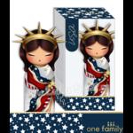 Lulu Shop poupée japonaise Kokeshi Figurine Ambassadrice One Family™ Amérique Abby 1