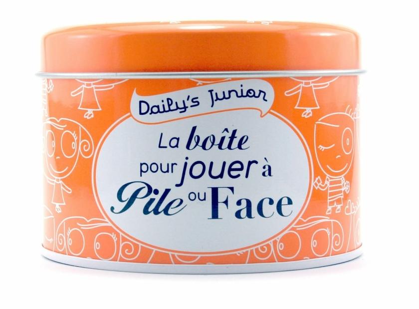 Lulu Shop Boîte message surprise Daily's Junior la boite pour jouer à Pile ou face