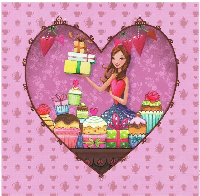 Lulu Shop Carte Mila Marquis Fée cadeau Gateau