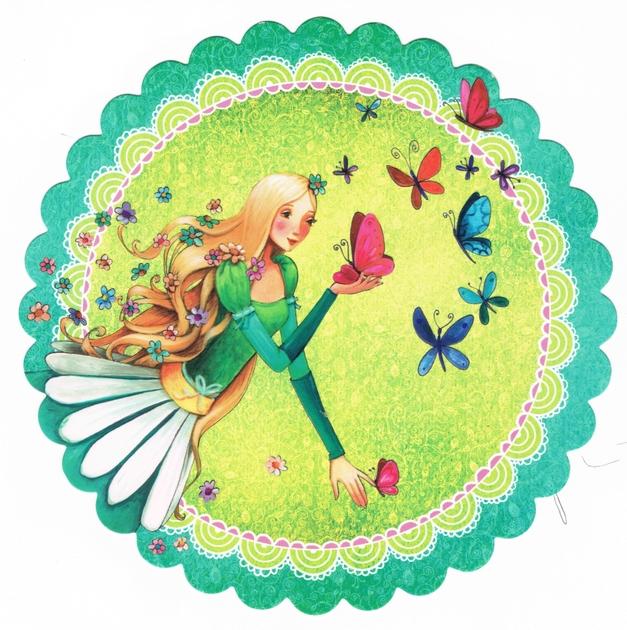 Lulu Shop Carte Mila Marquis Fée des papillons