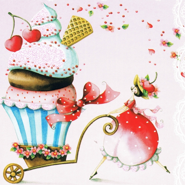 Lulu Shop Carte Nina Chen reine cupcake