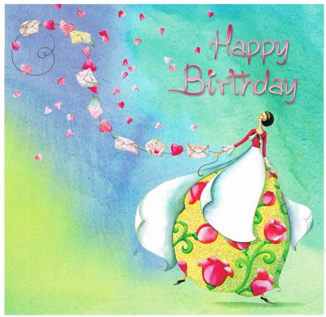 Lulu Shop Carte Nina Chen joyeux anniversaire