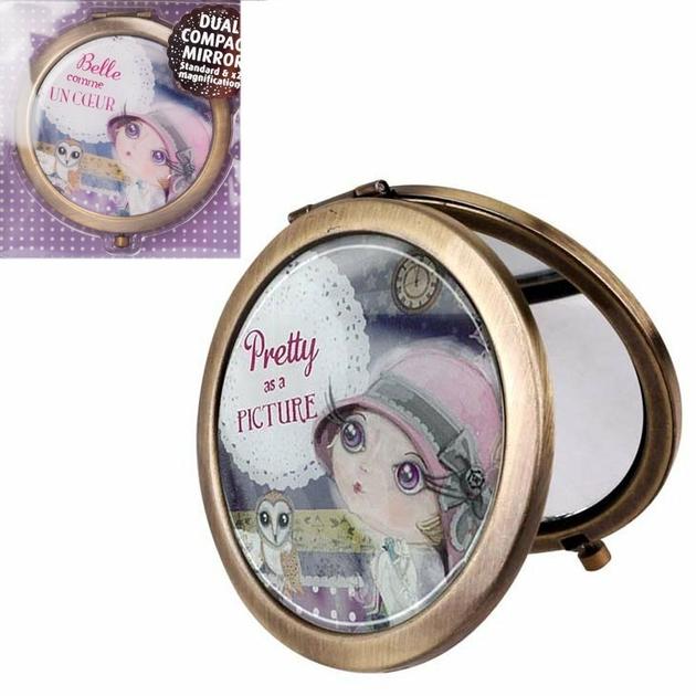 Lulu Shop VERITY ROSE Miroir de Sac Belle comme un Coeur, Miss Moonstruck