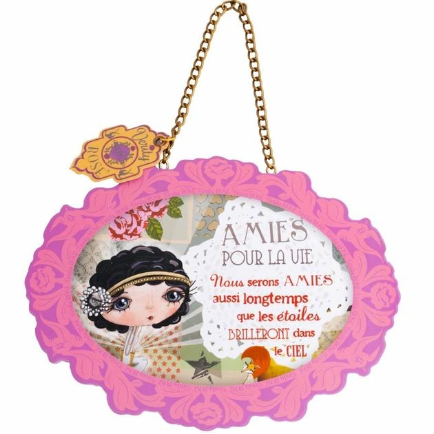 Lulu Shop VERITY ROSE Plaque à suspendre Amies pour la vie, Miss Starlet