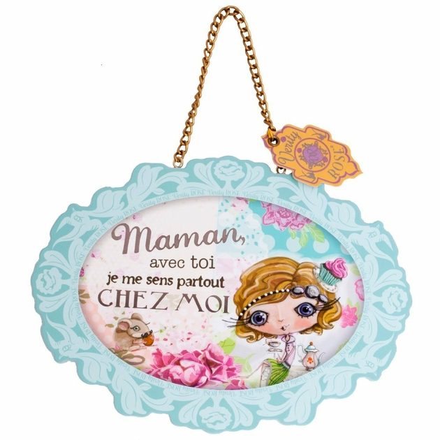 Lulu Shop VERITY ROSE Plaque à suspendre Maman, Miss Cupcake