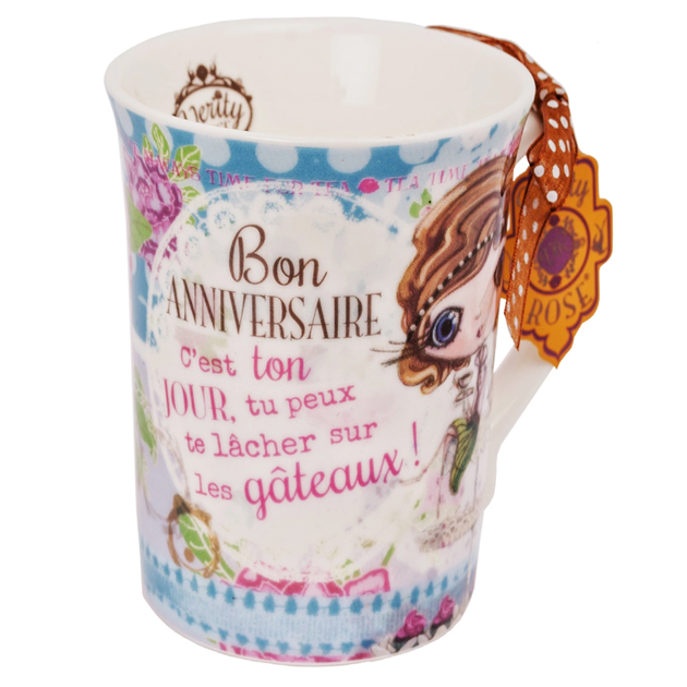 Lulu Shop VERITY ROSE Tasse Bon Anniversaire, Miss Cupcake