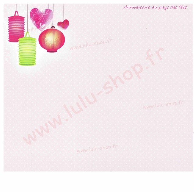 www.lulu-shop.fr carte postale Anniversaire au pays des fées !
