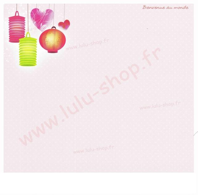 www.lulu-shop.fr carte postale Bienvenue au monde !