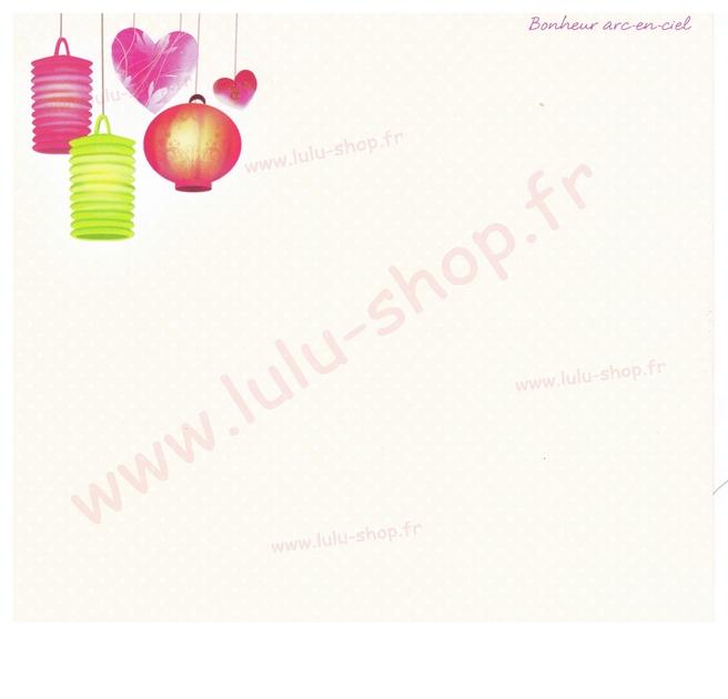 www.lulu-shop.fr carte postale Bonheur arc en cie