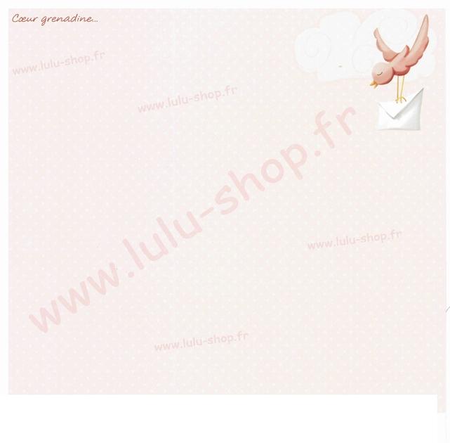 www.lulu-shop.fr carte postale Coeur grenadine...