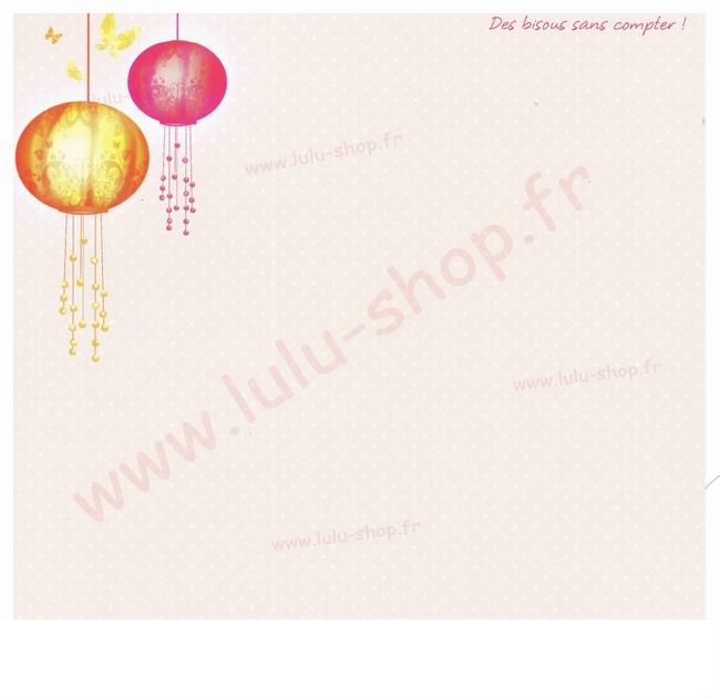 www.lulu-shop.fr carte postale Des bisous sans compter !